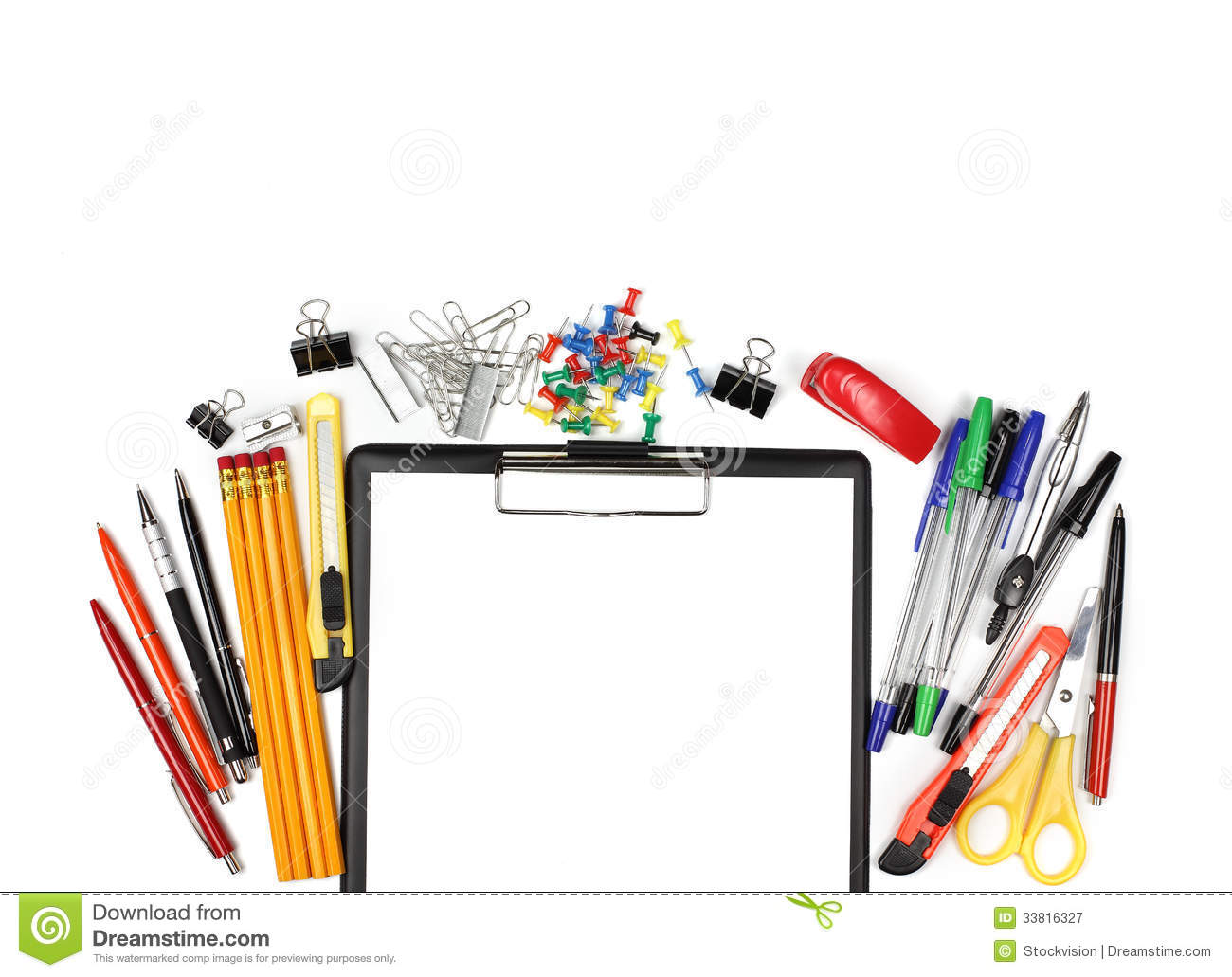 Office clipart office background Free Background Supplies Clipart Clipart