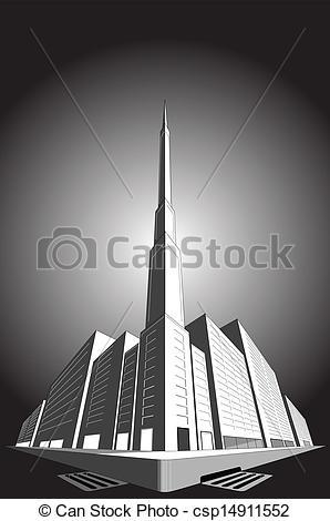 Skyscraper clipart office block Csp14911552 in Vector block of