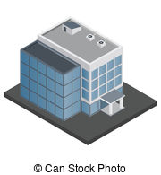 Office clipart office building Modern building Office isometric Images