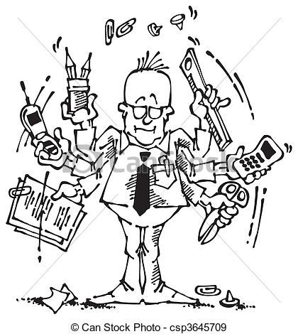 Office clipart office clerk And Black Illustration clerk work