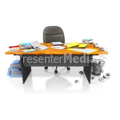Desk clipart disorganized Clip Clipart Art Messy Desk