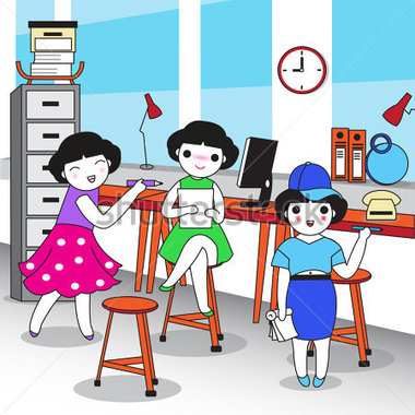 Office clipart office environment Clipart clipart people working happy