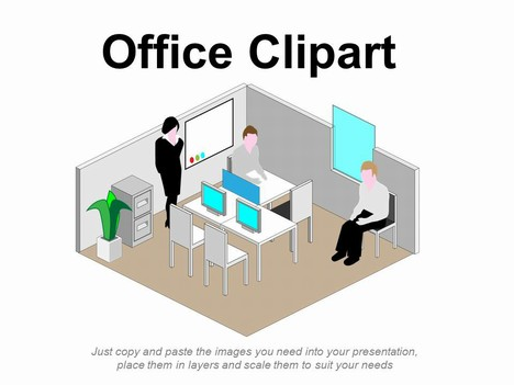 Office clipart office environment Clipart powerpoint  jpg template_1