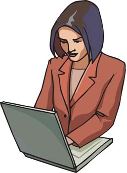Office clipart office job Working woman working  Office