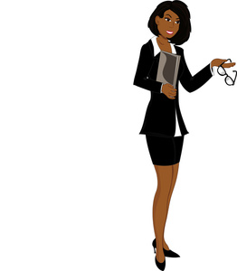 Office clipart office lady Image: African Image African Businesswoman