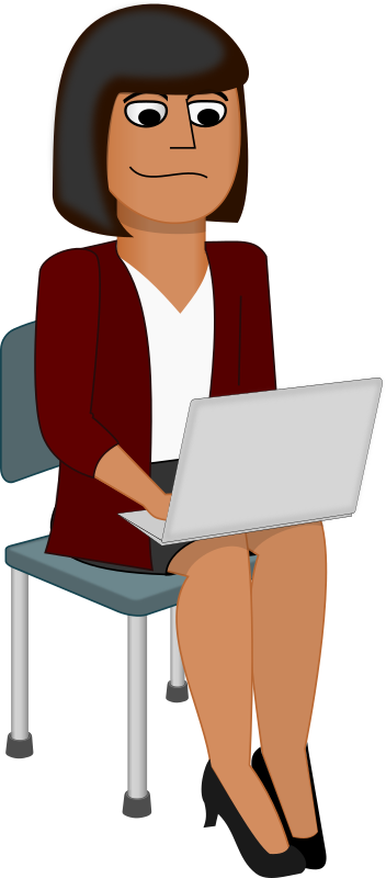 Women clipart office Up office free books commercial