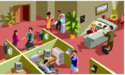 Office clipart office management Feng Shui is busy office