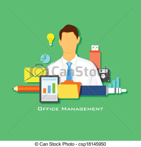 Office clipart office management Of office Vector Office Management