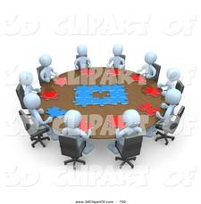 Office clipart office management Art Office 3d Office Meeting