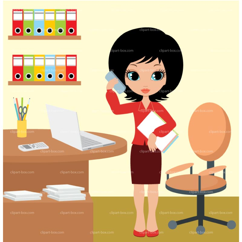 Woman clipart office worker Person clipart office Clip kid