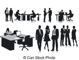 Office clipart office personnel Csp0047651 people in office