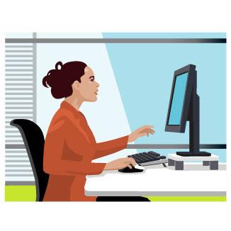 Office clipart office woman 05 – Work Clipart Art