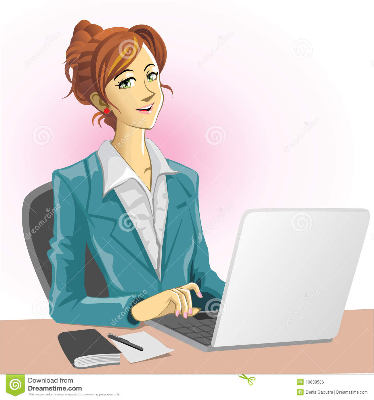 Woman clipart office worker Clipart office free art clip