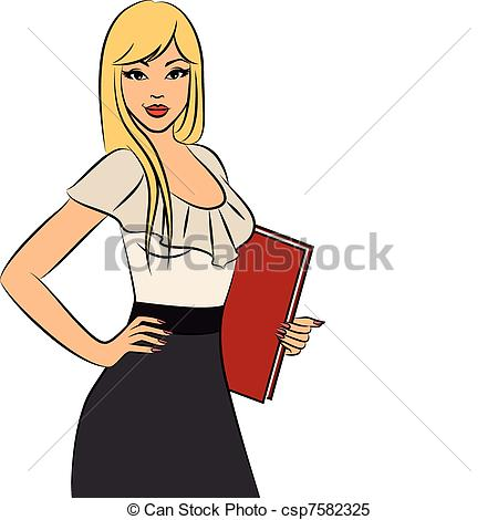 Women clipart office Vector csp7582325  Beautiful office