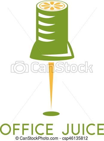 Office clipart pin Template of with Vector design
