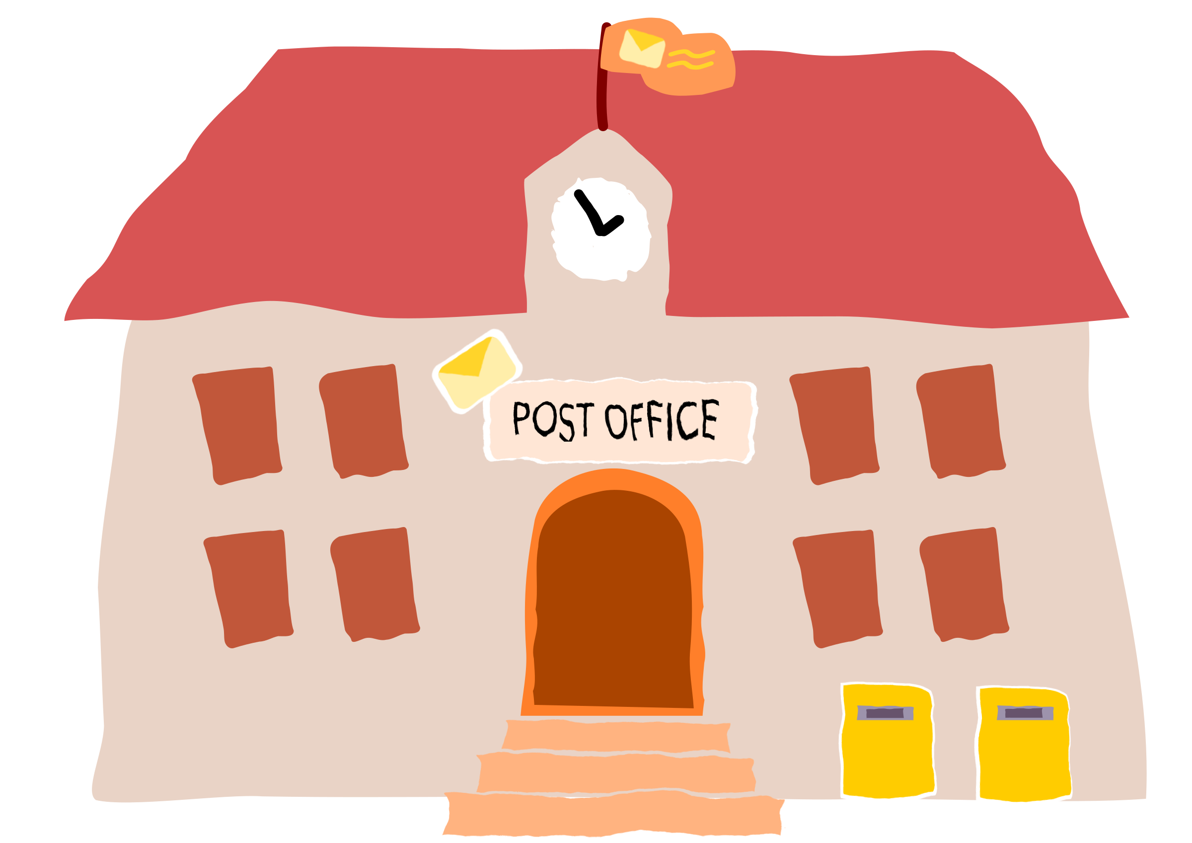 Office clipart post office Office Post Crooked Clipart Crooked