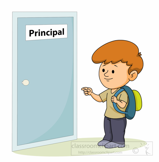 Journalist clipart female principal Side office student  standing