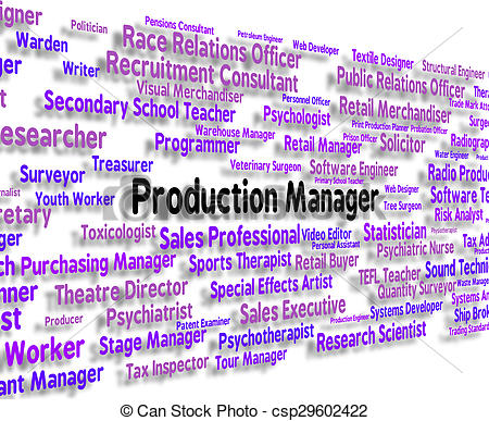 Office clipart production manager Of Production Manager Represents Work