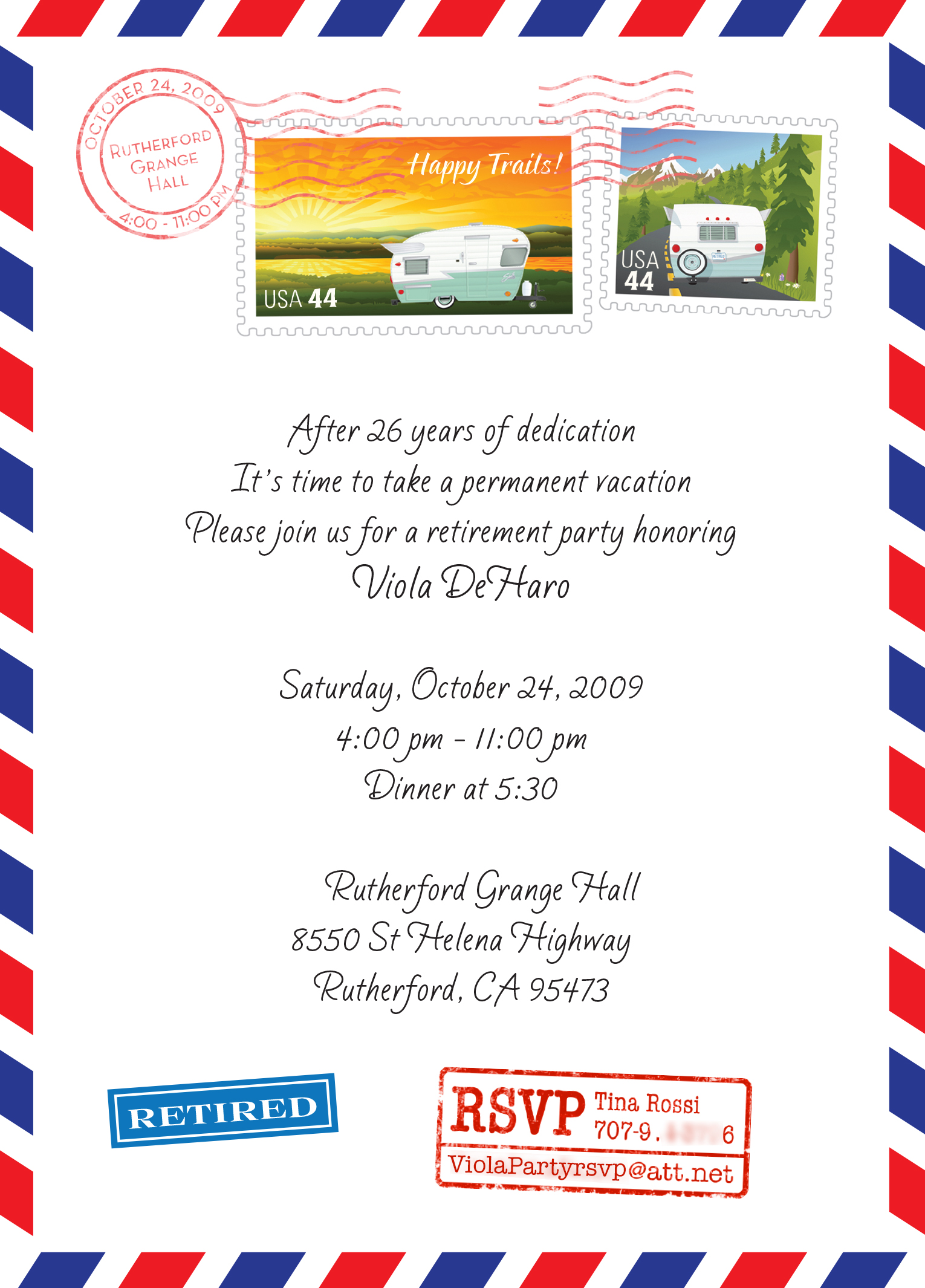 Office clipart retirement party Incorporate Retirement  Invitation