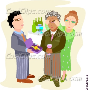Office clipart retirement party Retirement office office party Vector