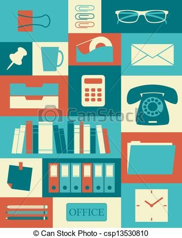 Office clipart retro With poster Poster  Art