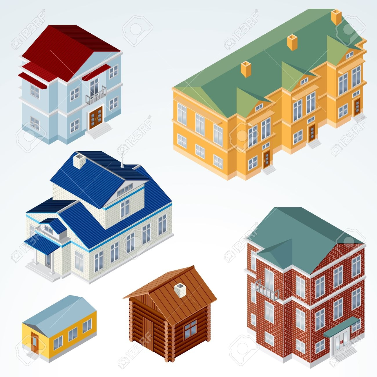 Office clipart small building Home Isometric Design Building Home