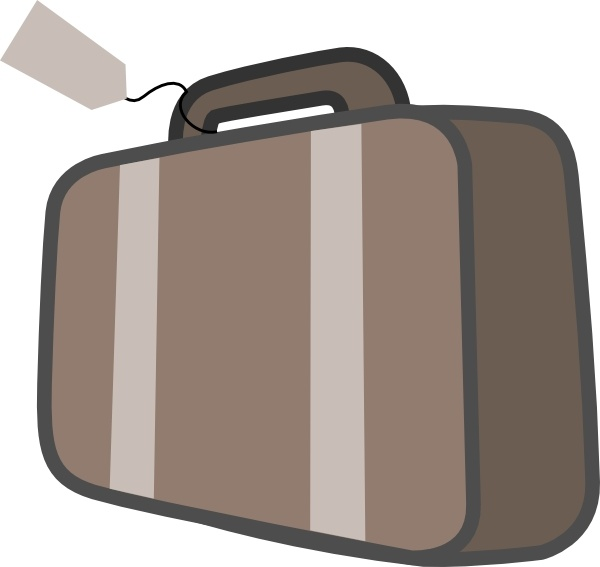Office clipart suitcase Vector svg art in Travel