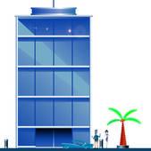 Office clipart tall building Illustration Art GoGraph development Free