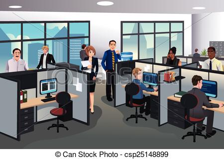 Office clipart vector The EPS in office in