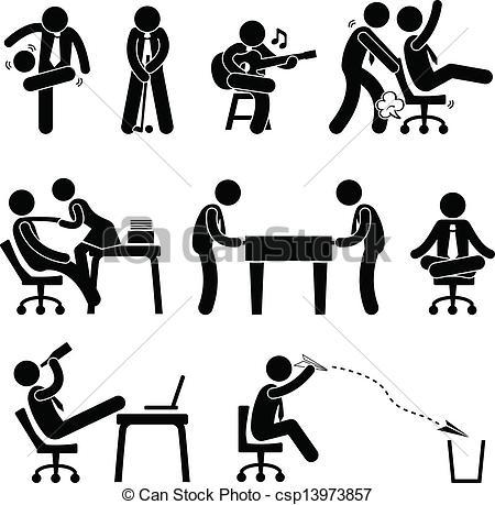Office clipart vector Employee set Vector of csp13973857