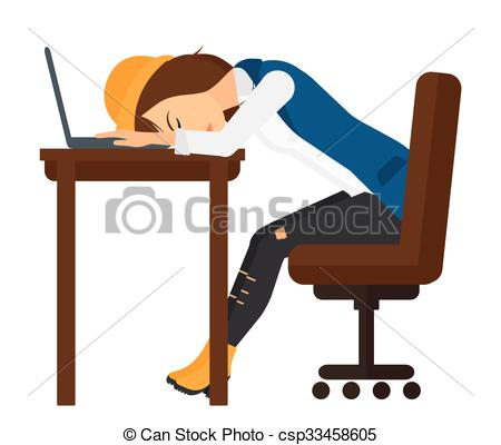 Office clipart workplace Workplace sleeping  Tired of