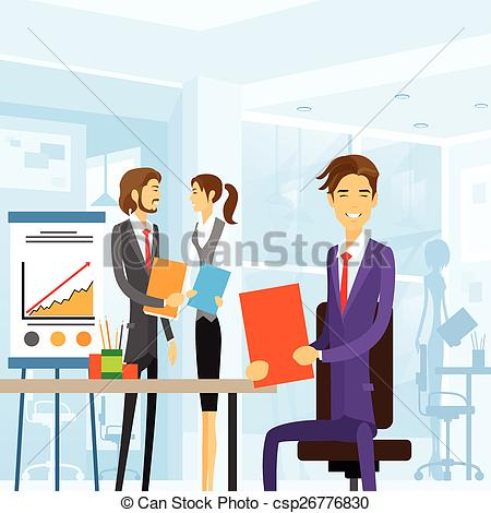 Office clipart workplace Office workplace working sitting office