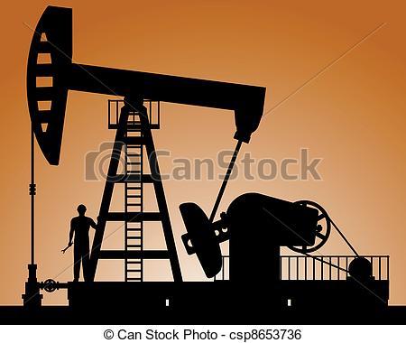 Oil clipart crude oil Csp8653736 Vector Pump Silhouette rocking