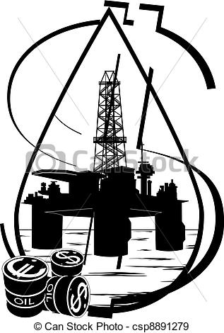 Oil clipart crude oil EPS Crude industry production Black