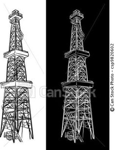 Oil Rig clipart electric tower #1