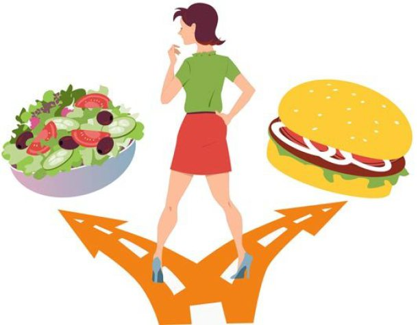 Oil clipart healthy junk food With Little healthy Choices with