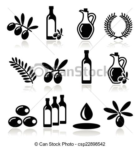 Olive Oil clipart vector Olive of Olive icons