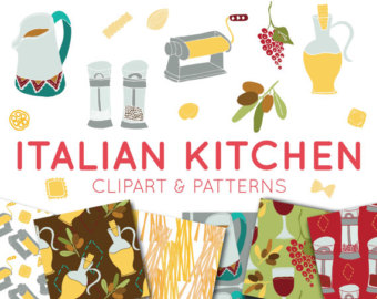 Oil clipart italy food Paper Italian Digital Food clipart