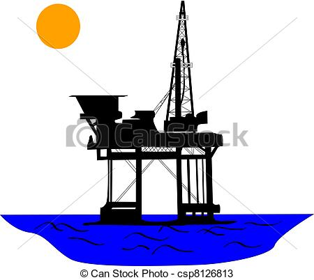 Oil clipart oil derrick Of the platform the csp8126813