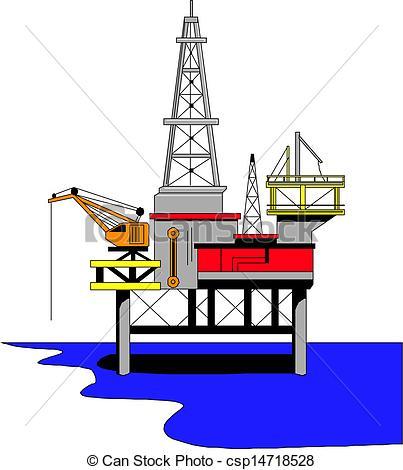 Oil Rig clipart Illustration drilling drilling  Vector