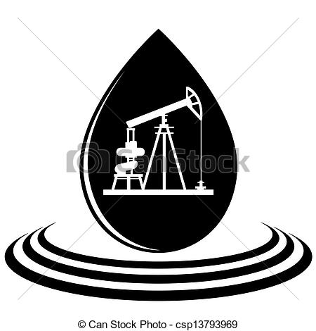 Oil clipart oil drop Of Vector pump drop of