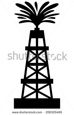 Oil Rig clipart old Collection well Oil gusher Cliparts