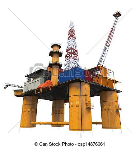 Oil Rig clipart oil platform Offshore Rig Drilling Oil Stock