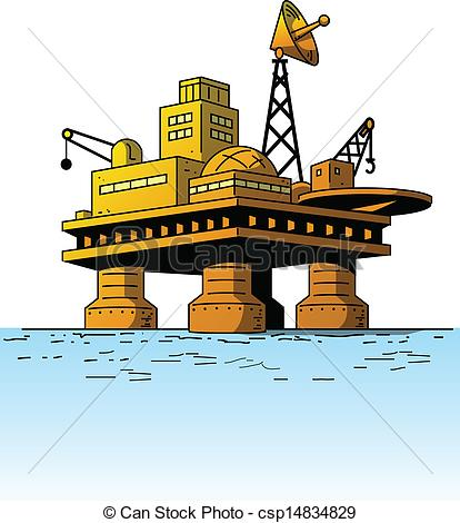 Oil Rig clipart oil platform Platform Illustration Oil  Oil