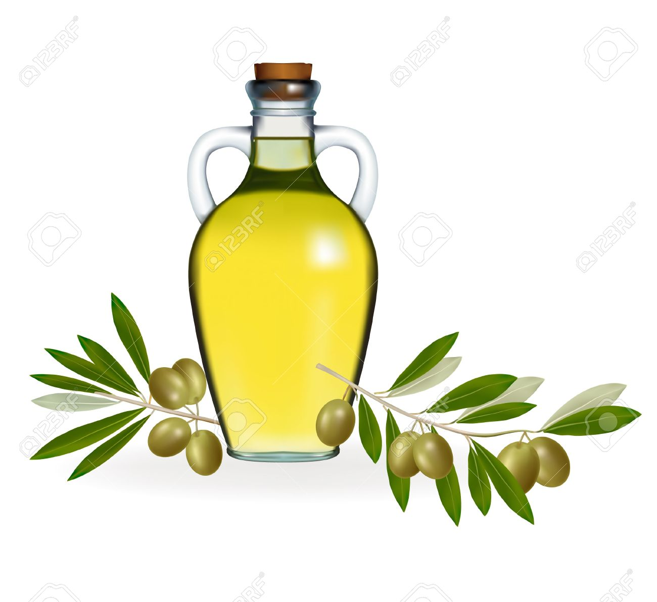 Olive Oil clipart cartoon Oil Olive Green curling green