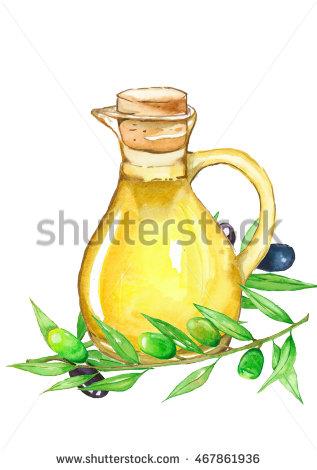 Oil clipart oliver Olive Watercolor Handpaint Handpaint Akvareller