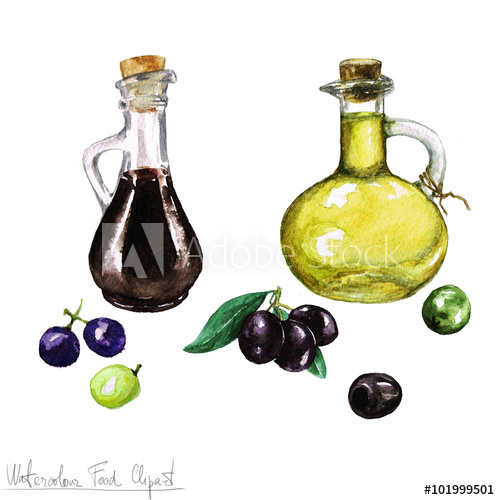 Oil clipart oliver Watercolor Vinegar Olive Watercolor Olive