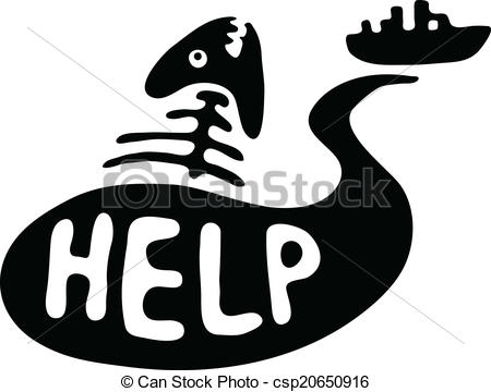 Pollution clipart sea pollution Bone slick water water