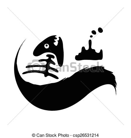 Oil clipart water pollution Fish concept pollution water slick