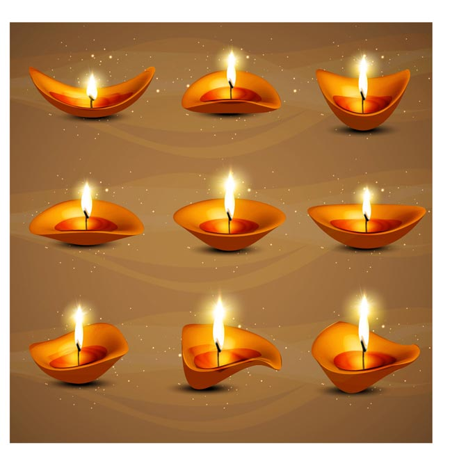 Oil Lamp clipart pongal Lamp various oil of Vector